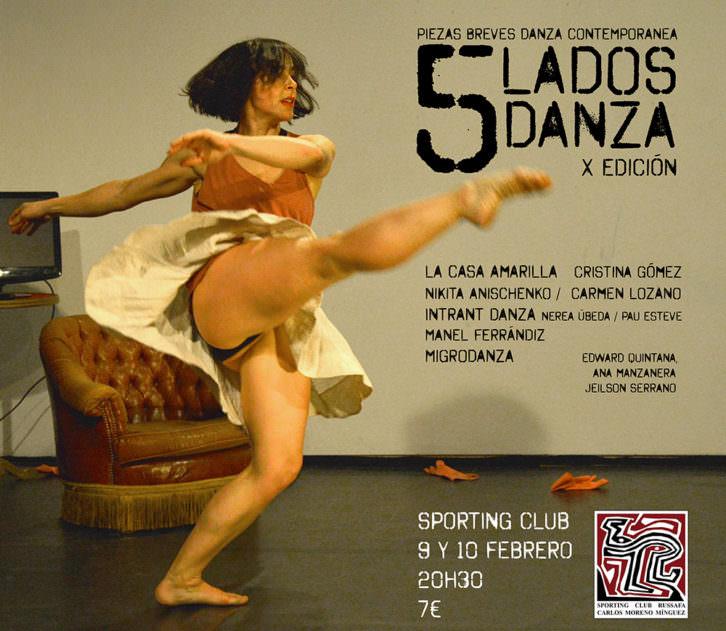 Cartel del ciclo 5 Lados Danza, por cortesía de Sporting Club Russafa.