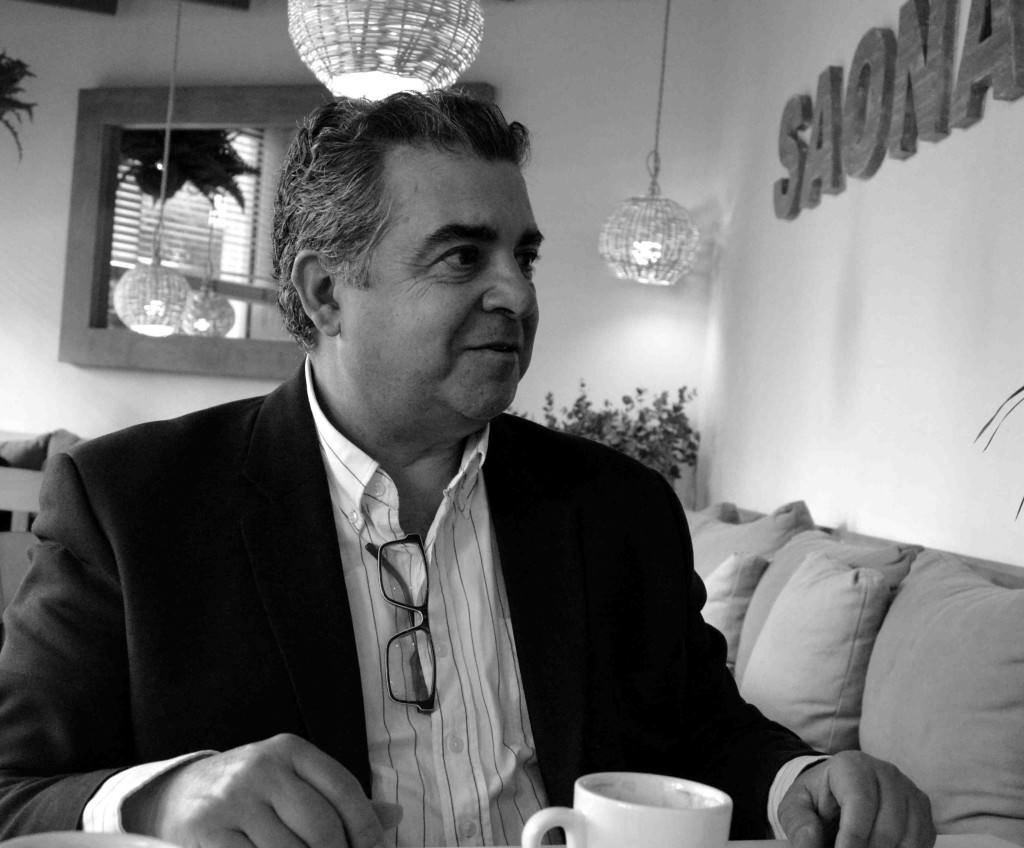Nacho Agrait en un momento del Desayuno Makma. Fotografía de Merche Medina.