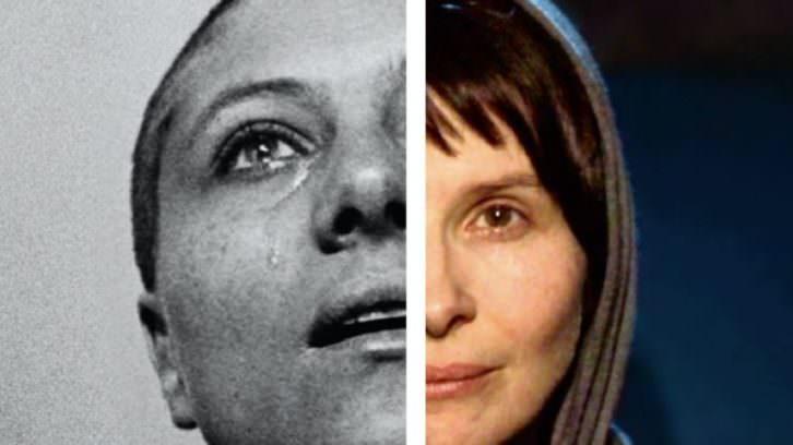 Montaje con rostros de las películas 'La pasión de Juana de Arco' y 'Shirin'. Imagen cortesía de Filmoteca.