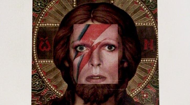 David Bowie como Jesucristo, obra de Naro Pinosa. Imagen cortesía de IKB 191.