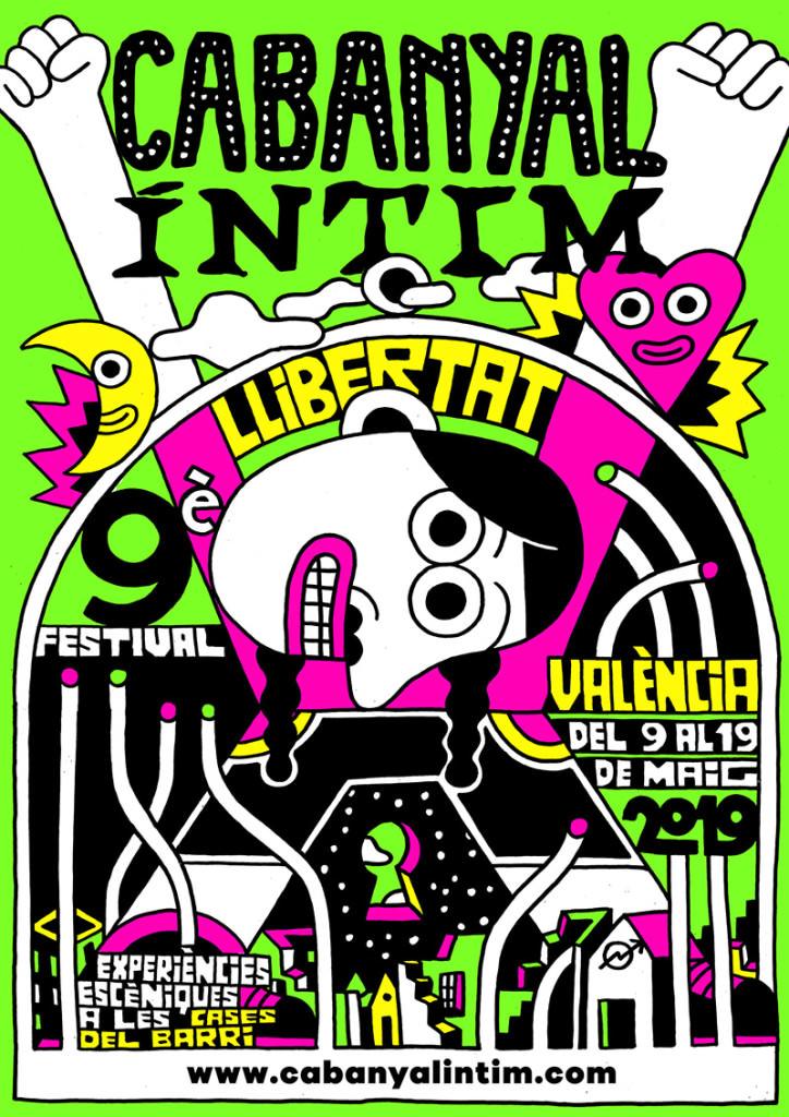 Cartel de Elías Taño de la novena edición de Cabanyal Íntim, por cortesía del festival.