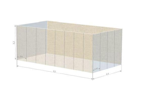 Cubo exterior del MuVIM donde se ubicará la exposición. Imagen cortesía del MuVIM