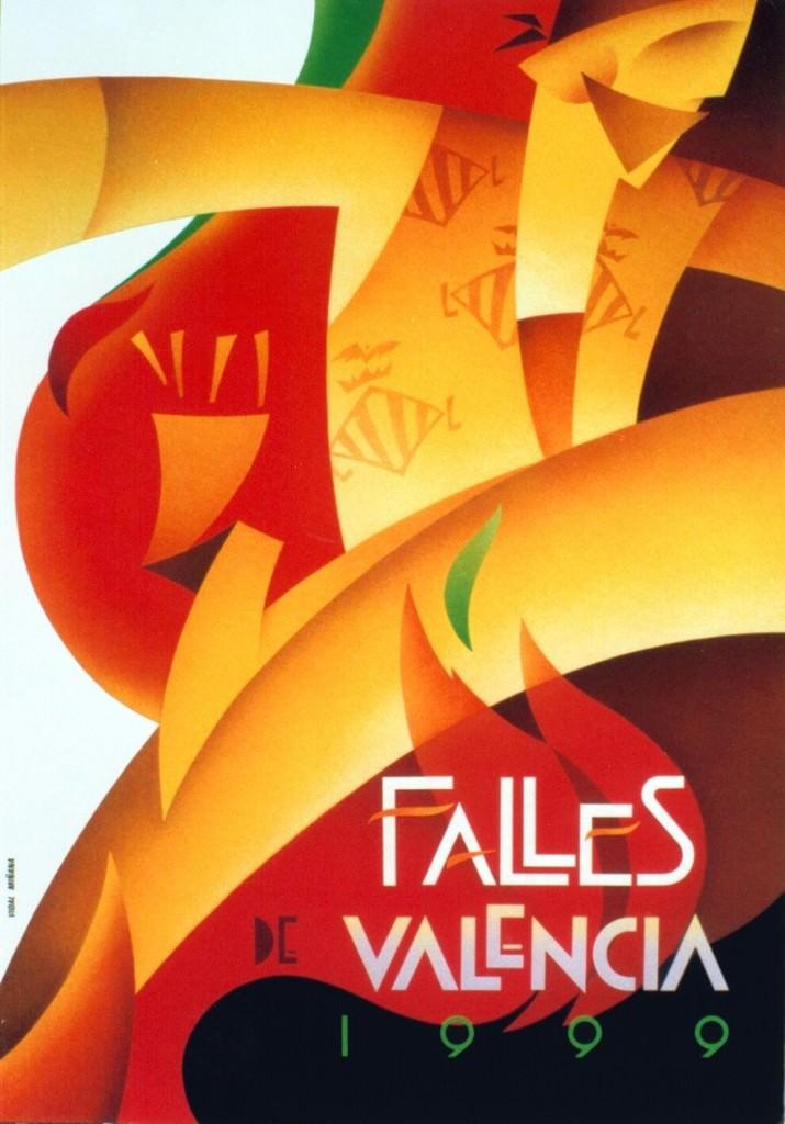 Cartel de Vicent Vidal para las Fallas de València de 1999. Fotografía cortesía de la EASD.