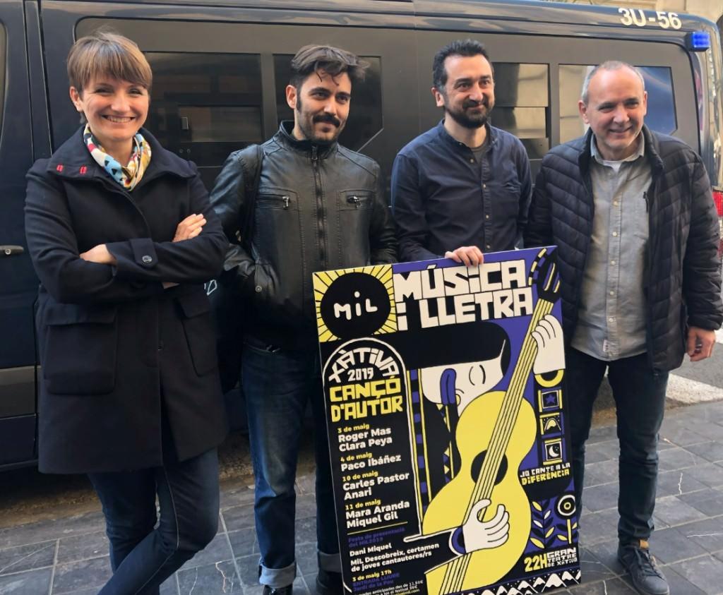 De izda a dcha, Marta Landete, Elías Taño, Feliu Ventura y Alfred Boluda. Imagen cortesía del MiL.