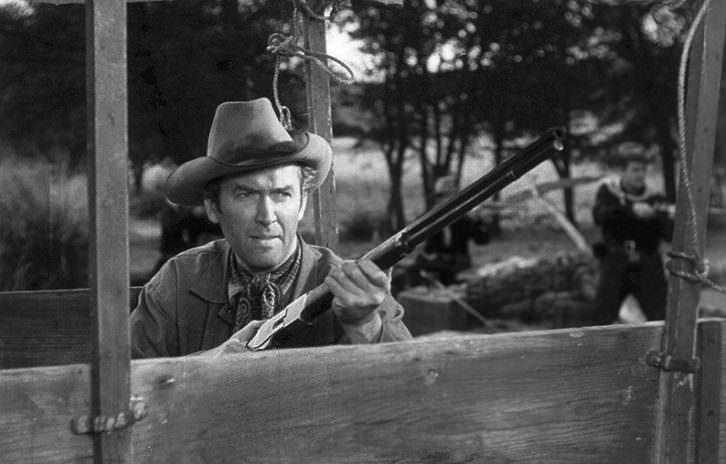 James Stewart en 'Winchester 73', de Anthony Mann. Filmoteca de Valencia.