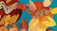 Detalle de una de las obras de la artista coreana Kim YunShin. Fotografía cortesía del Centro Cultural Coreano de Madrid.