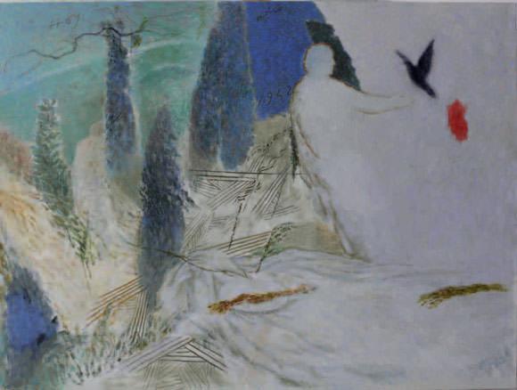 Detalle de una de las obras de la artista Mari Puri Herrero. Fotografía cortesía del Centro Cultural Coreano de Madrid.