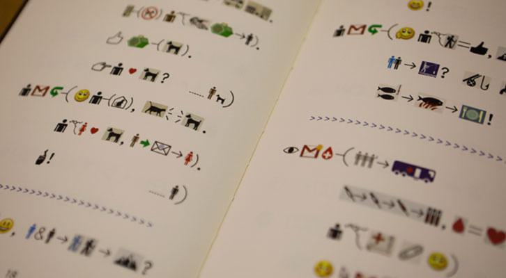 Xu Bing presenta su libro escrito con emoticonos