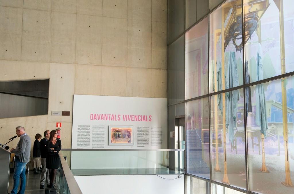 Obra de María José Planells en el vitral del MuVIM. Imagen cortesía del museo valenciano.