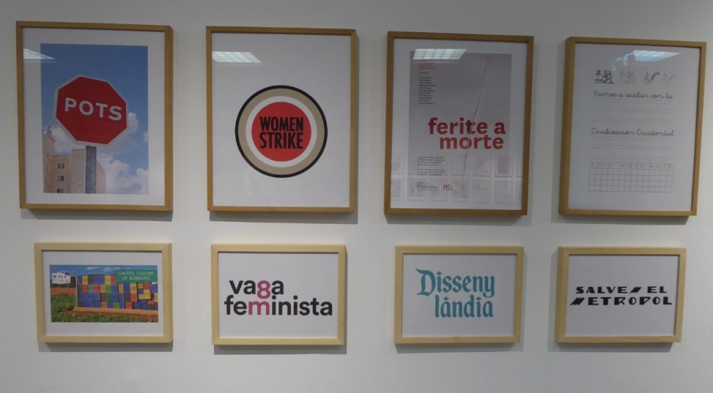 Obras de Tomás Gorria en la exposición 'Lloc de paraules'. Foto: Makma