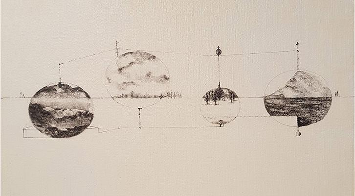 Detalle de la obra de Carmen Michavila.
