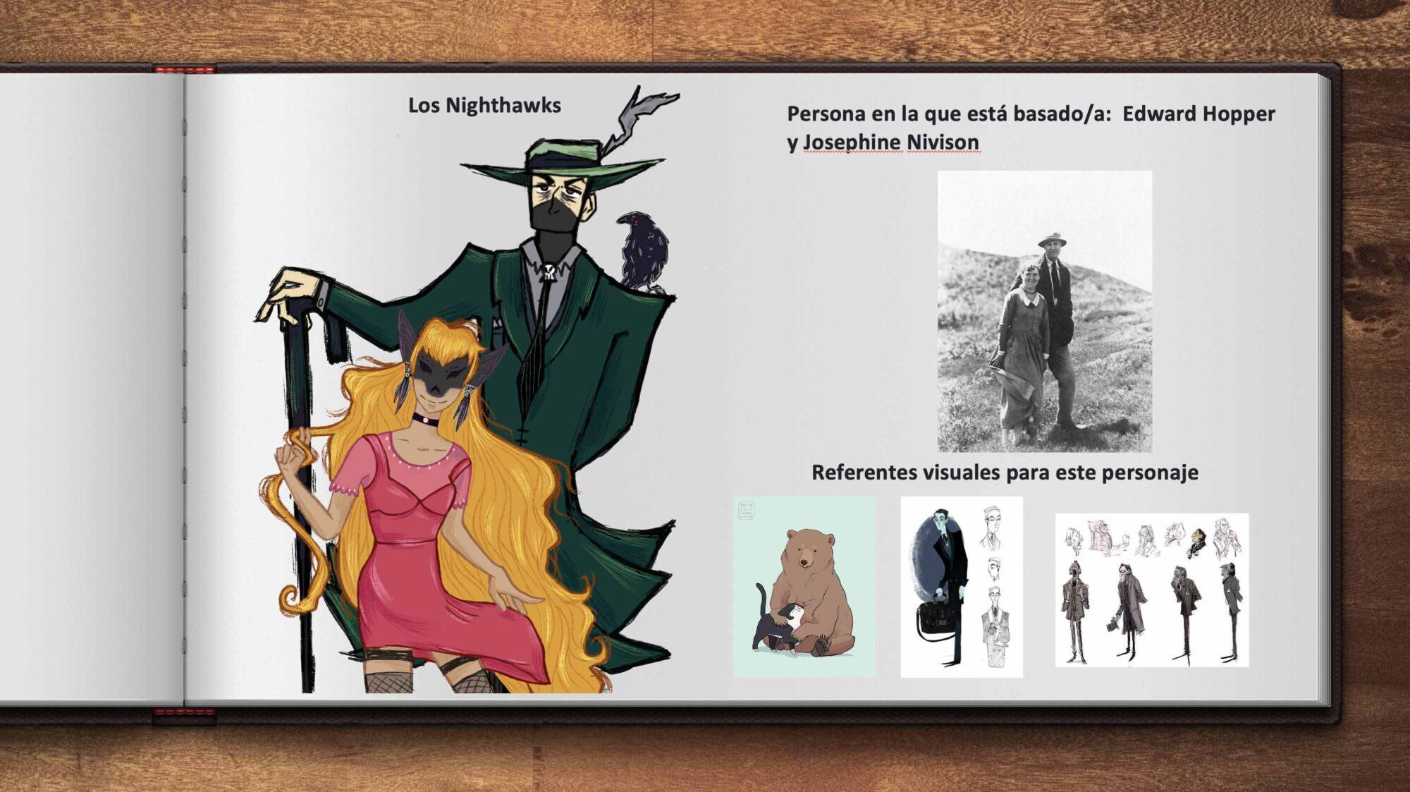 'Los Nighthawks', basados en Edward Hopper y Josephine Nivison