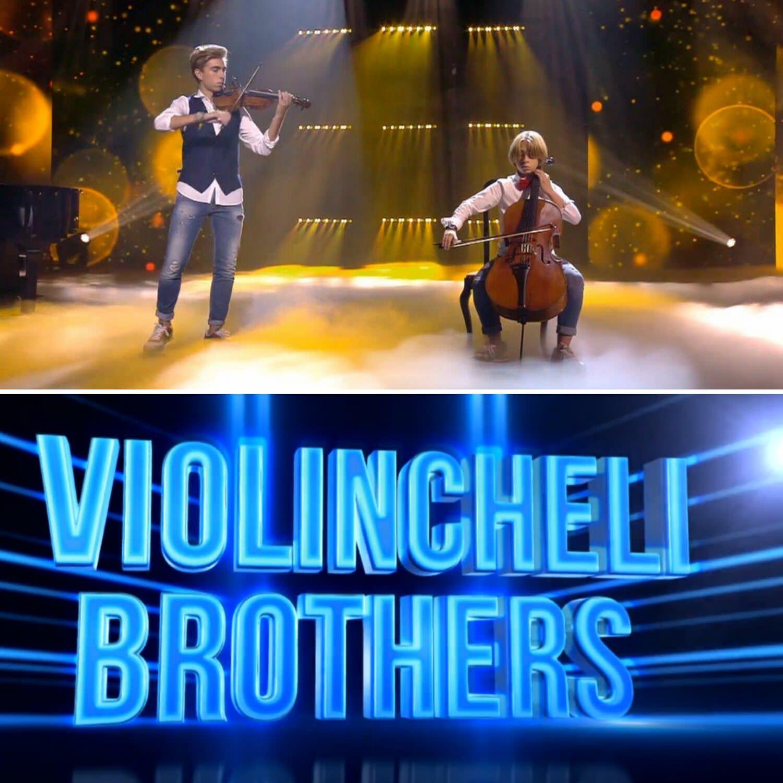 Los Violincheli Brothers durante una de sus actuaciones en Got Talent.