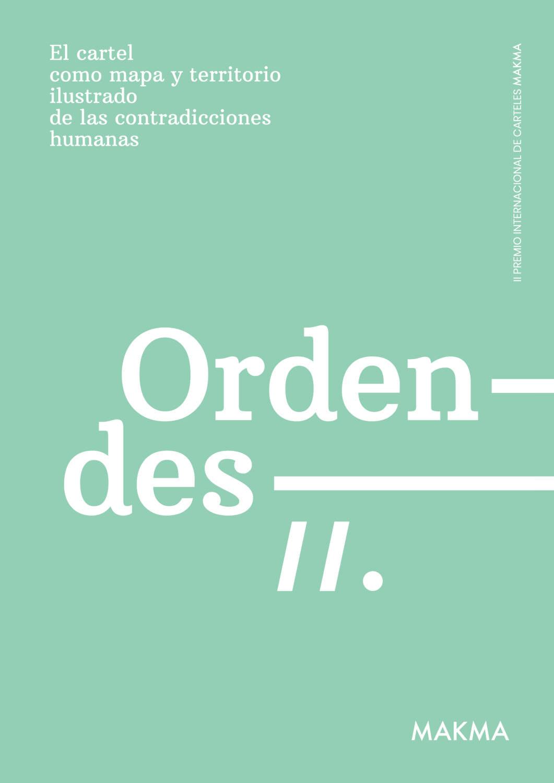 Cartel, Premio Internacional de Carteles MAKMA, 'Orden/Desorden'