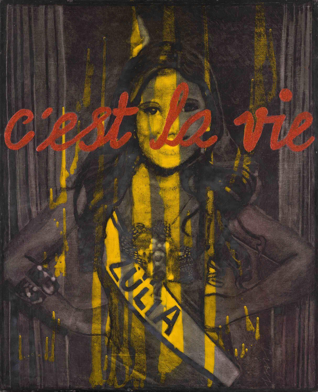 Una de las obras de 'C'est la vie', de Mavi Escamilla. Fotografía cortesía del MuVIM.
