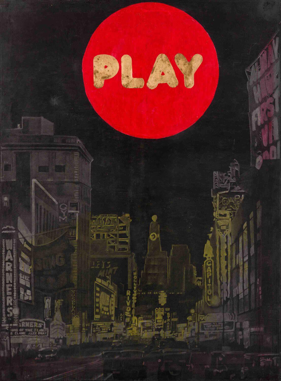 Iconografía pop de de ciudades efervescentes y nocturnas en la obra de Mavi Escamilla .Fotografía cortesía del MuVIM.