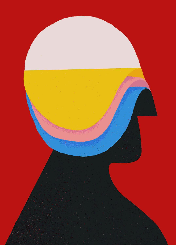 'Capas', de Estilo Compadre (primer accésit del Premio Internacional de Carteles MAKMA 'Comunicación/Incomunicación').