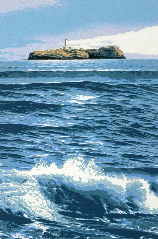Obra de Eduardo Sanz, en el Centro de Arte Faro de Cabo Mayor (Santander). Faros